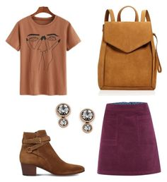 """""""Untitled #1527"""" by christawallace ❤ liked on Polyvore featuring Yves Saint Laurent, Loeffler Randall, White Stuff and FOSSIL"""