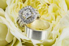 Luxury California Wedding at Bougainvillea - MODwedding Engagement ring, Wedding band