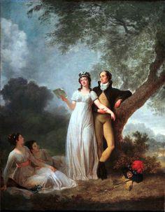 Marguerite Gérard (1761-1837) et Jean-Honoré Fragonard (1732-1806) - Quatre personnage dans un parc dit Le Concert (Grasse, villa Musée Jean-Honoré Fragonard