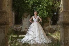 Chrystelle Atallah 2016 collection - Bridal - http://www.orientpalms.com/Chrystelle-Atallah-6175
