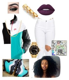 """""""#130~Hello~Erykah Badu ft. Andre 3000"""" by kitty900 ❤ liked on Polyvore featuring Calvin Klein Collection, NIKE, Sterling Essentials, Rolex, Lime Crime and Maison Margiela"""