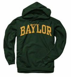 Baylor Bears Dark Green Arch Hooded Sweatshirt by New Agenda. $29.99. Arch Hooded Sweatshirt. Front pouch pocket. Screen print graphics. Drawstring hood. Rib knit cuffs and waist. Comfort, style and school spirit all wrapped into one fine piece of Bears apparel! This Baylor Bears Dark Green Arch Hooded Sweatshirt features a screen print graphic of your team's wordmark to make sure you stand out as the Baylor Bears number one fan. Sweatshirt features front pock...