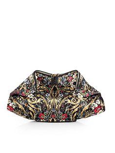 Alexander McQueen Demanta Floral Printed Satin Clutch - just beautiful. Alexander Mcqueen, Beautiful Bags, Beautiful Handbags, Fashion Accessories, Floral Prints, Shoulder Bag, My Style, Lady, Satin