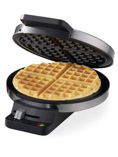 Waffle makers are great for any breakfast where you can use a variety of toppings from fruit to whipped cream and sprinkles.  Make their mornings fun! #waffle #weddingregistry