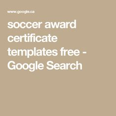 Editable Soccer Award Certificates Instant Download  Soccer