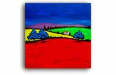"Artwork 1430 ""Paesaggio Trenta"" 76x76cms. Painted 17/06/2014 www.art4now.co.uk"