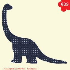Behangbeest Dinosaurus - Behangdieren - studio POPPY | Amsterdam
