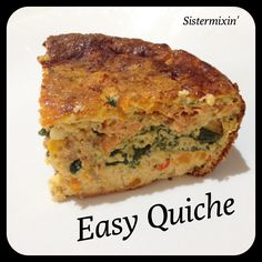 Sistermixin - Easy quiche made in your thermo machine.