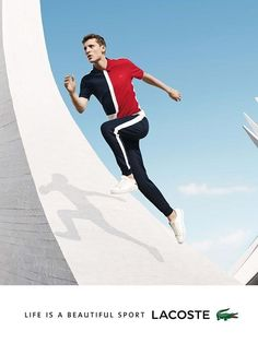 Lacoste S/S 16 [] In this picture: George Barnett , Credits for this picture: Jacob Sutton(Photographer) , Tracey Nicholson (Fashion Editor/Stylist) Advertising Photography, Editorial Photography, Photography Poses, Fashion Photography, Lacoste, Fashion Editor, Editorial Fashion, Sports Advertising, Sports Models