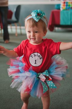 "Dr Seuss Thing 1 Thing 2 / Birthday ""Thing 1 Thing 2 Twins First Birthday Party"""