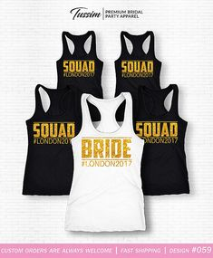 3c22bf10da1 15 Best bachelorette party bridal squad shirt wedding tank maid of ...