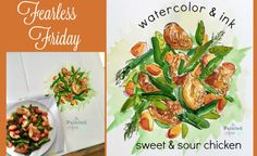Fearless Friday, Watercolor & ink | The Painted Apron