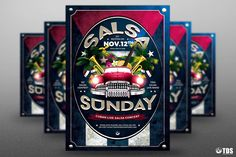 Cuban Live Salsa Flyer Template V2  @creativework247