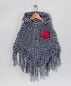 Little Girls Crocheted Poncho.  Christmas idea @Sandra Bowers. :)
