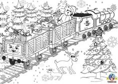 printable Hard Coloring Pages for Adults | Printable Christmas colouring pages for kids Thomas Winter pictures ...