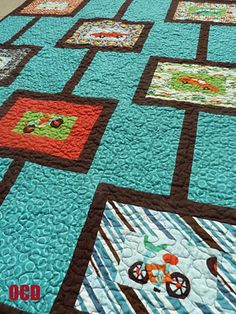boy quilts - love the teal and brown