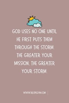 Faith Quote About Storms of Life | Inspirational Quote