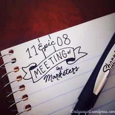 Behold the epicness of the meeting doodles.  Sharpie pen in notebook.  #doodleeveryday #dailydoodle2016 #odysseyartdoodles #odysseyartlettering #dndlettering #dndletterart #illustration #art  #sketch #sketchbook #doodles #handlettering #lettering #50words #betype #meetingdoodles http://ift.tt/23VOEOv http://ift.tt/28NYcES