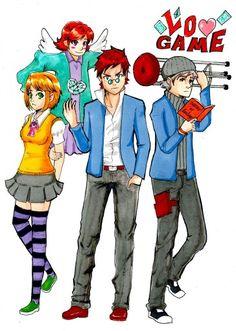 Personajes de mi comic #LoveGame