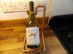 Industrielle Kupfer Weinflasche Halter/Rack aus von bentcopper