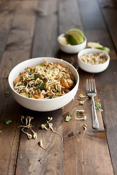 Spicy Peanut Noodle Bowl by Naturally Ella