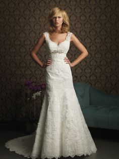 LIKE! - Perfekt Satin V-Ausschnitt A-Linie Kapelle-Schleppe Hochzeitskleid AB8770