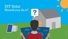 DIY solar panels graphic energysage