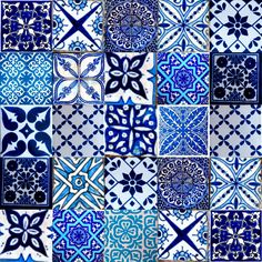 random marrakesh moroccan tiles blue