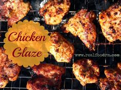 Coconut Oil Chicken Glaze ◾1/2 C coconut oil ◾1/2 C lemon juice ◾1/4 C. water ◾1 tsp paprika ◾2 tsp salt ◾1/4 tsp pepper ◾1 Tbsp. honey ◾1 Tbsp minced onion Rub into chicken and let sit for 8-10 hours in refrigerator. Broil, bake, or grill!