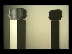 Video of Dialogue by Kumi Yamashita 1999  Light, Motor, Styrene, Shadow  60 rotating profiles,lit from the side, casts a silhouette of two conversing heads    http://kumiyamashita.com