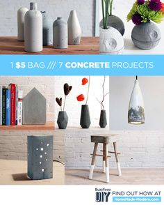 7 DIY Concrete Projects You Can Make With One $5 Bag Of Concrete Mix