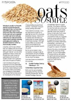 Oats so simple....