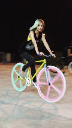 girl + bike