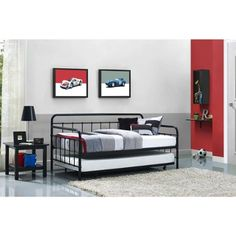 Better Homes and Gardens Kelsey Metal Daybed & Trundle, Multiple Finishes - Walmart.com