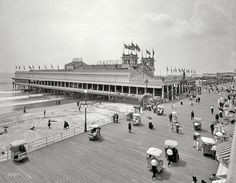 The Jersey Shore circa 1910. Steeplechase Pier and Boardwalk, Atlantic City
