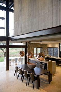 Serengeti House - contemporary - dining room - Nico van der Meulen Architects