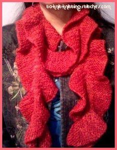Rustic Potato chip scarf Easy knitting pattern.