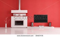 Google Image Result for http://image.shutterstock.com/display_pic_with_logo/191182/191182,1256379589,5/stock-photo-contemporary-fireplace-with-lcd-tv-and-speaker-in-a-red-lounge-39467476.jpg