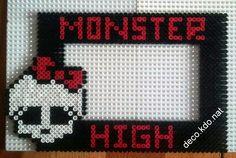 Monster High photo frame hama perler beads by Deco.Kdo.Nat