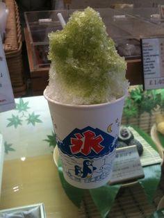 green tea ice shavings