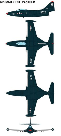 Grumman F9F Panther The Grumman F9F Panther was the manufacturer's first jet fighter and the U.S. Navy's second. The Panther was the most widely used U.S. Navy jet fighter of the Korean War. It fle...