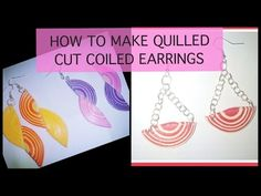quilling paper earrings new design | quilling paper Earrings Making Tutorial - YouTube