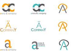 4 proposte di logotipo correlati ai biglietti da visita con alcune variazioni di colore e di caratteri tipografici: Sans-serif