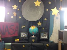 Moon and stars dramatic play center