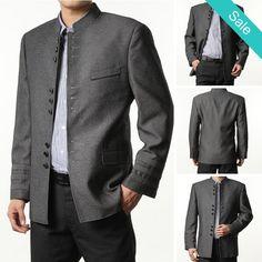 Blazer - Gray Single-breasted woollen trendy blazer - On Sale for $176.99 (was $196.99) @runit365 #blazer #jacket #classy