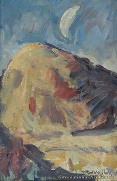 Paintings - Mountford Tosswill (Toss) Woollaston - Page 3 - Australian Art Auction Records Australian Art, Art Auction, Tossed, New Zealand, Artist, Landscapes, Moon, Painting, Models