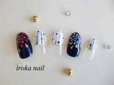 New Years Nail Designs, Nail Art Designs, Firework Nails, Fireworks, Feet Nail Design, Gel Nails, Manicure, Transparent Nails, Floral Nail Art