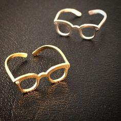 Chic nerd glasses ring   Fahsye Fashion Accessories Boutique