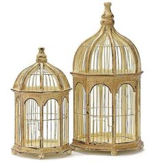 Asst. of 2 Gazebo Birdcages (€44) ❤ liked on Polyvore featuring home, outdoors, outdoor decor, backgrounds, decor, bird cage, fillers and objects