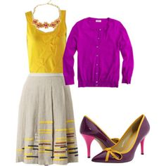 """@Nicole Claudon """"What would Emma Pillsbury wear?"""" How perfect would this outfit be for school colors day?"""